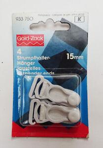 Brand New Gold Zacks White suspender Ends Hooks 15mm pack of 4