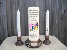 Personalised Wedding Unity Candles Disney Snow White Keepsake Gift Centrepiece