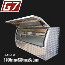 1400x530x820 Aluminium toolbox ute checker plate tool box truck storage Half 2