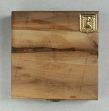 """EMPTY Wooden Box for 1981 Israel """"From Holocaust to Rebirth"""" Gold State Medal"""