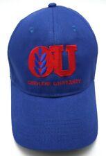 OMOLENE UNIVERSITY ON-LINE EQUINE TRAINING blue adjustable cap / hat 100% cotton
