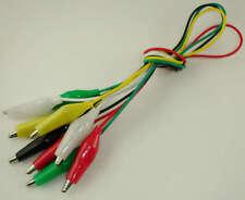 Pack 5 Cables con pinzas cocodrilo electrónica varios colores
