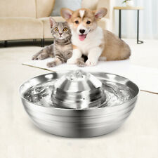 Pet Dog Cat Water Fountain Stainless Steel Drinking Dispenser Bowl 2L / 67.6OZ