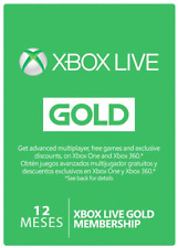 12 MONTHLY ACCESS GIFT CARD FOR XBOX LIVE GOLD USA