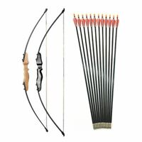 Straight Bow Split And Fiberglass Arrow For Children Youth Archery Shooting 51""