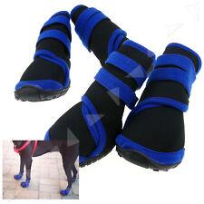 4PCS Anti Slip Pet Dog Waterproof Shoes Protective Rain Boots Black L