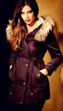 Fur Classic Neckline Parkas for Women