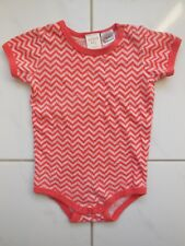 'Seed' Baby Girl Boy Soft Cotton Zig Zag Playsuit Romper Size 00 Fits 3-6M
