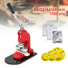 Button Maker Badge Punch Press Machine 25/32/44/58mm +1000pcs components buttons