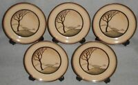 1980s Set (5) Denby SAVOY PATTERN Dessert or B&B Plates MADE IN ENGLAND