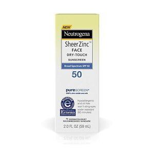 Neutrogena Sheer Zinc FACE, Dry-Touch Sunscreen Lotion, SPF 50, 59 ml (2 fl oz)