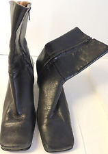 WOMENS ETIENNE AIGNER BLACK LEATHER ANKLE BOOTS SIZE 6.5M