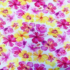 Floral Colorido 100% TELA DE ALGODÓN-COSTURA de acolchar-Craft
