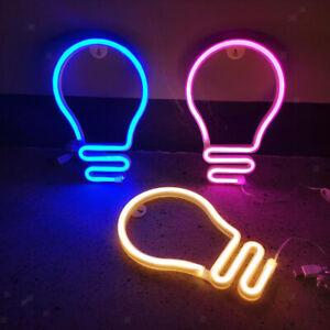 Globe Neon Sign Light, LED Neon Lights Table Lamp Night Light, USB / Battery