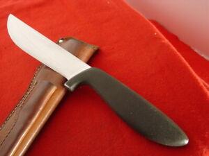 "vintage Gerber USA made 11.25"" overall BIG HUNTER fixed blade knife & sheath"