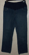 EXCELLENT WOMENS LEVI STRAUSS Signature MATERNITY DISTRESSED BLUE JEANS  SIZE 12