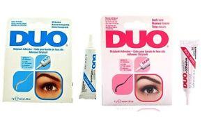 DUO Eyelash Striplash Adhesive Lash Glue CLEAR BLACK False Fake Lashes 1 pcs