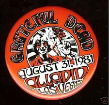 Grateful Dead LAS VEGAS Alladin Casino 1981 pin