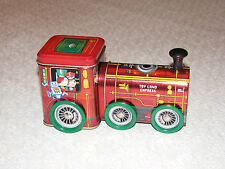 Christmas Toy Land Express Tin Train, TOY with wheels MINT