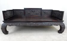 Gorgeous Antique Chinese Qing Dynasty Zitan Day Opium Day Bed 78.5 inches