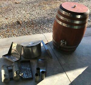 Root Beer Wood Barrel Faucet Dispenser Store Display Soda Fountain Keg