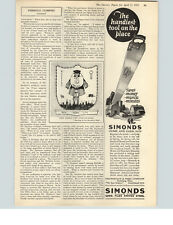 1925 Paper Ad Simonds Home and Farm Saw Simonds Saw & Steel Fitchburg, MA