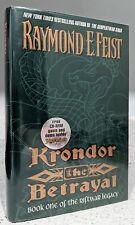 *SIGNED* - Raymond Feist = KRONDOR THE BETRAYAL = 1st/1st hcdj Riftwar CD-ROM