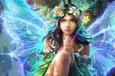 Modern Home Wall Decor Fairy Butterfly Oil Painting Picture Printed on Canvas