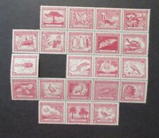 1844-1944 Chile Flora & Fauna Block Of Stamps S# C124 Missing A Few MPH OG VF