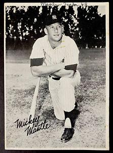 "Early 1950's Mickey Mantle New York Yankees Team Issue B&W Photo 5X7"" HOF RARE"