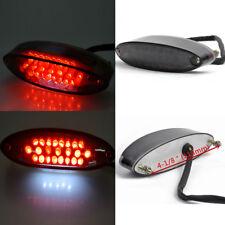Universal Motorcycle Bikes ATV RED LED Tail Brake Stop License Plate Light Smoke