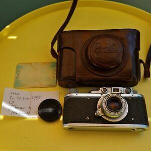KMZ Zorki-1 mit Industar-22 1:3,5/50, russische (UdSSR) Kamera