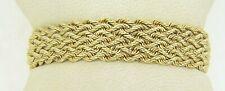 """6 3/4"""" Woven Bracelet H15 14 Karat Yellow Gold 10.9 Grams"""