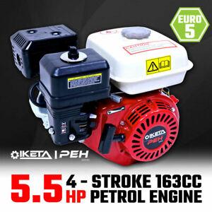 5.5HP OHV Petrol Engine Stationary Motor Horizontal Shaft Recoil Start
