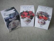 3x Hutschenreuther Weihnachtskugel 1993 1994 1995 im bunten Originalkarton
