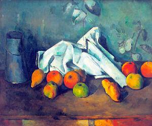 Boite a lait et Pommes by Paul Cezanne 75cm x 62.4cm High Quality Art Print