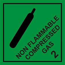 NON FLAMMABLE COMPRESSED GAS WARNING MAGNETIC SIGN
