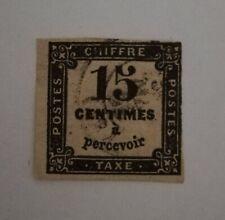 FRANCE TIMBRE TAXE N° 3 15 c noir Typo oblitéré