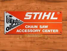 "TIN-UPS TIN SIGN ""Stihl Oilomatic""  Chainsaw Garage Rustic Wall Decor"