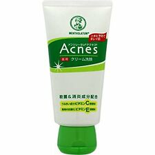 Mentholatum Acnes Medicated Face Wash Cream Rohto Japan 130g