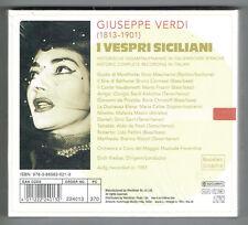 GIUSEPPE VERDI I Vespri Siciliani MARIA CALLAS new 3 CD set (3 Discs, Document)
