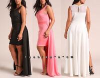 e9c3335bcfd Plus Size Jersey Fit Flare Dress Side Pocket Sweep Skirt Wrap Sash ...