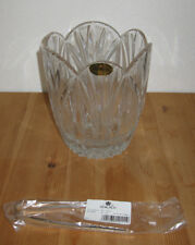 Block Wyndham Lead Crystal Ice Bucket With Tongs, Nib