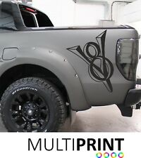 2 x  FORD RANGER RAPTOR V8 TRUCK CAR VINYL STICKERS / DECALS GRAPHICS RAP2