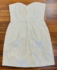 BNWT Ever New Womens Nude Peach Eliana Strapless Tulip Lined Dress Size 12