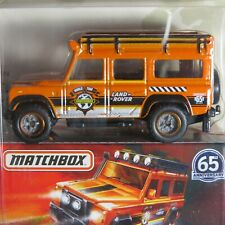 🌟 MATCHBOX LAND ROVER DEFENDER 110, 65th ANNIVERSARY, GLOBE TRAVELERS, ORANGE