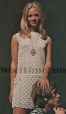 Crochet Pattern Ladies Summer Dress/Tunic. 4ply. 34 to 38 Inch Bust.