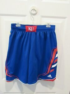 Kansas Jayhawks NCAA Basketball Shorts - adult Size Large Adidas