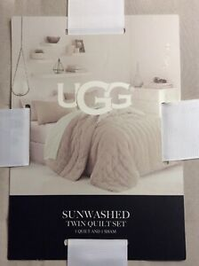 UGG Sunwashed  Twin Quilt Set ( Quilt & 1 Sham) NEW WITH TAGS * MSRP $79.99
