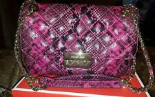 ☆NWT! Michael Kors Sloan Large Chain Embossed Leather Shoulder Bag Pink Fuschia☆